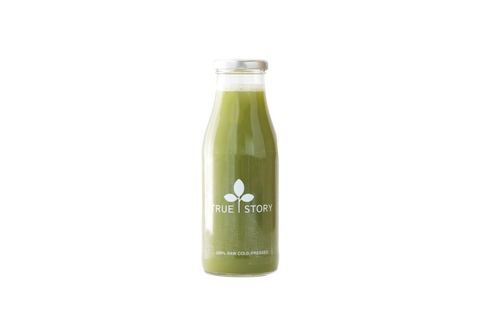 Beginners detox juice which has spinach, cucumber, fennel, parsley and apple. All ingredients are nutritionist-approved.