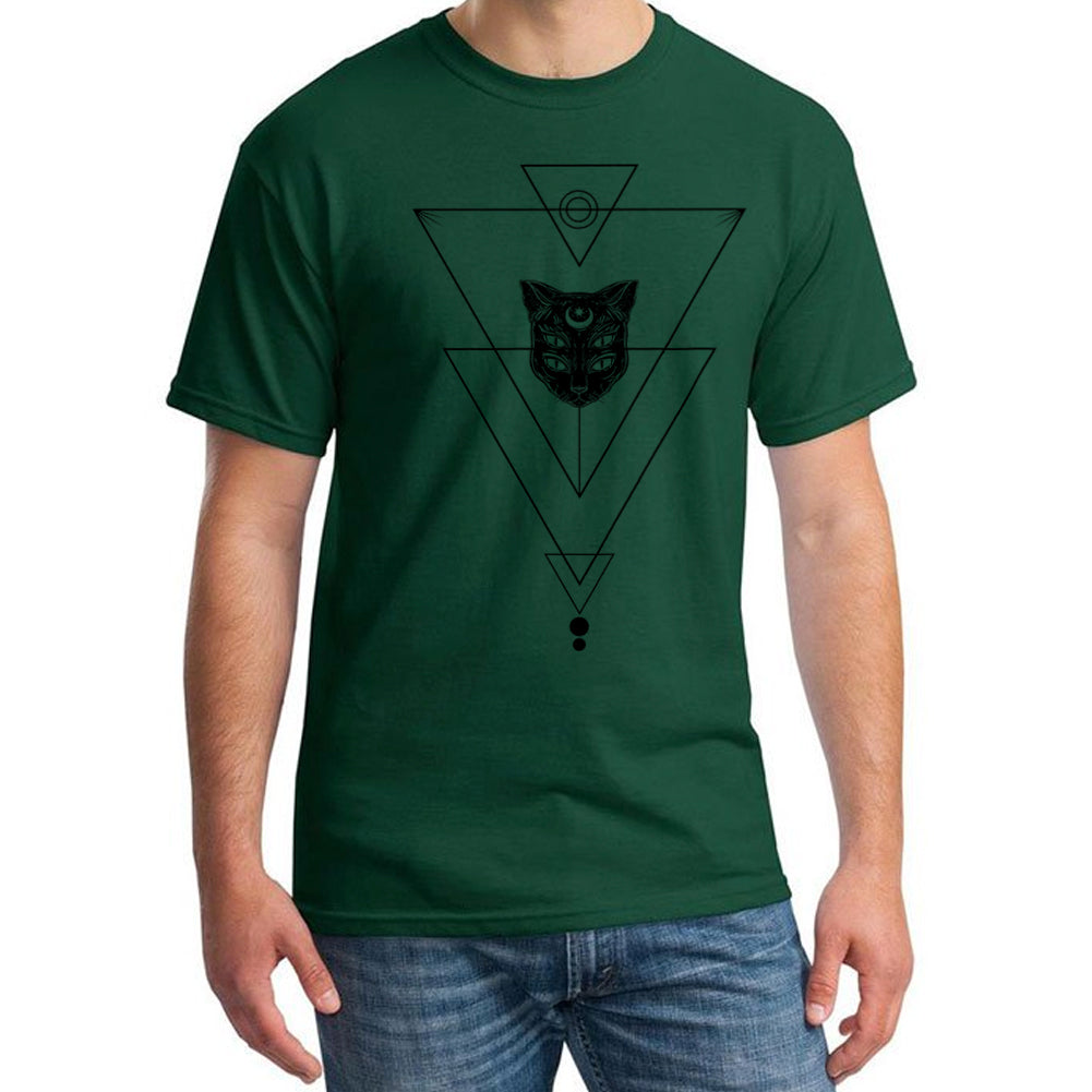 Alien Cat Third Eye For Cat Lovers Men's Forest Green T-shirt