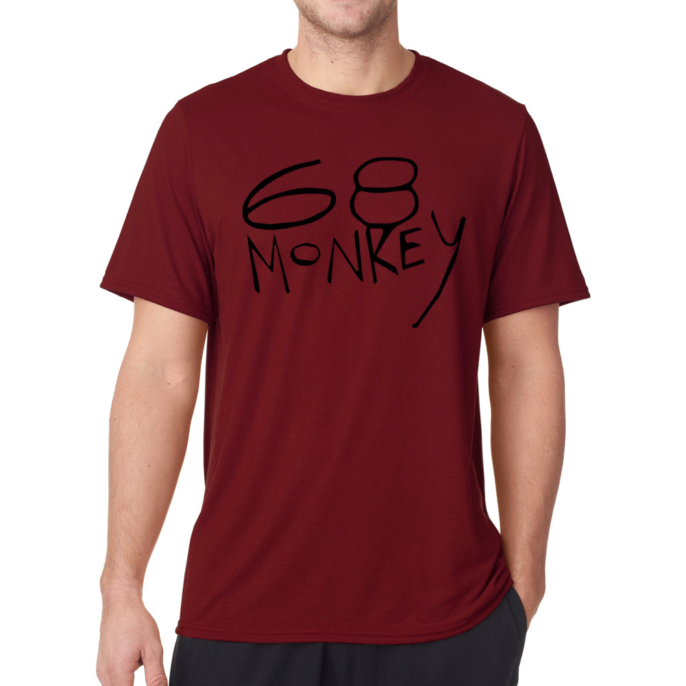 68 Monkey Music Virtual Band Graphic Men's Cardinal Red T-shirt
