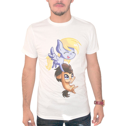 My Little Pony Dr.Hoove & Derpy Hooves Men's White T-shirt