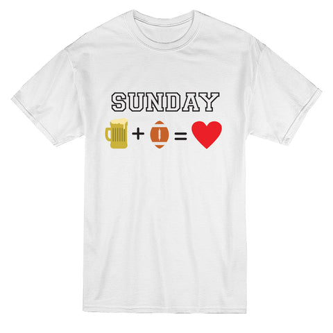 Sunday Beer Plus Sports Is Love Men's T-shirt