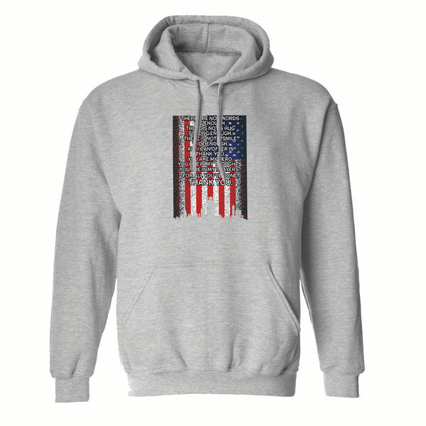 American Flag Pride There Are Not Words Graphic Men's Hoodie
