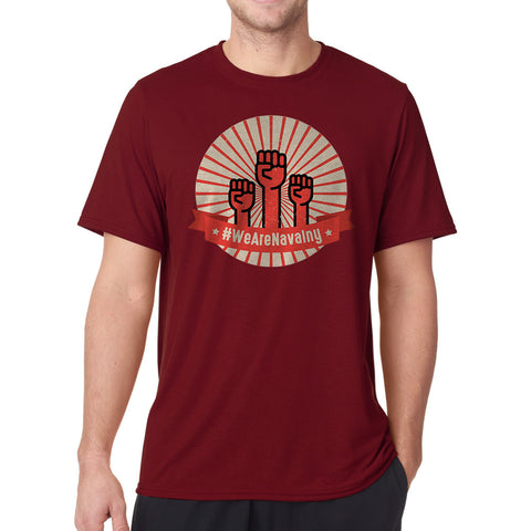 #WeAreNavalny Men's Cardinal Red T-shirt - Tee Bangers