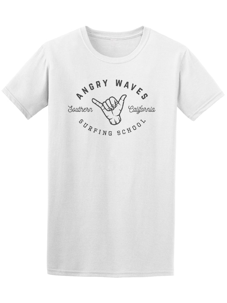 Angry Waves California Surfing School Tee - Image by Shutterstock