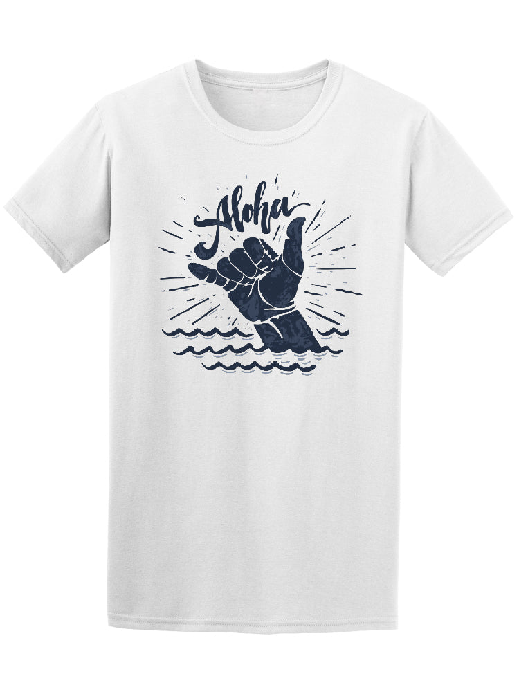Aloha Shaka Sign Surfing Wave Tee - Image by Shutterstock