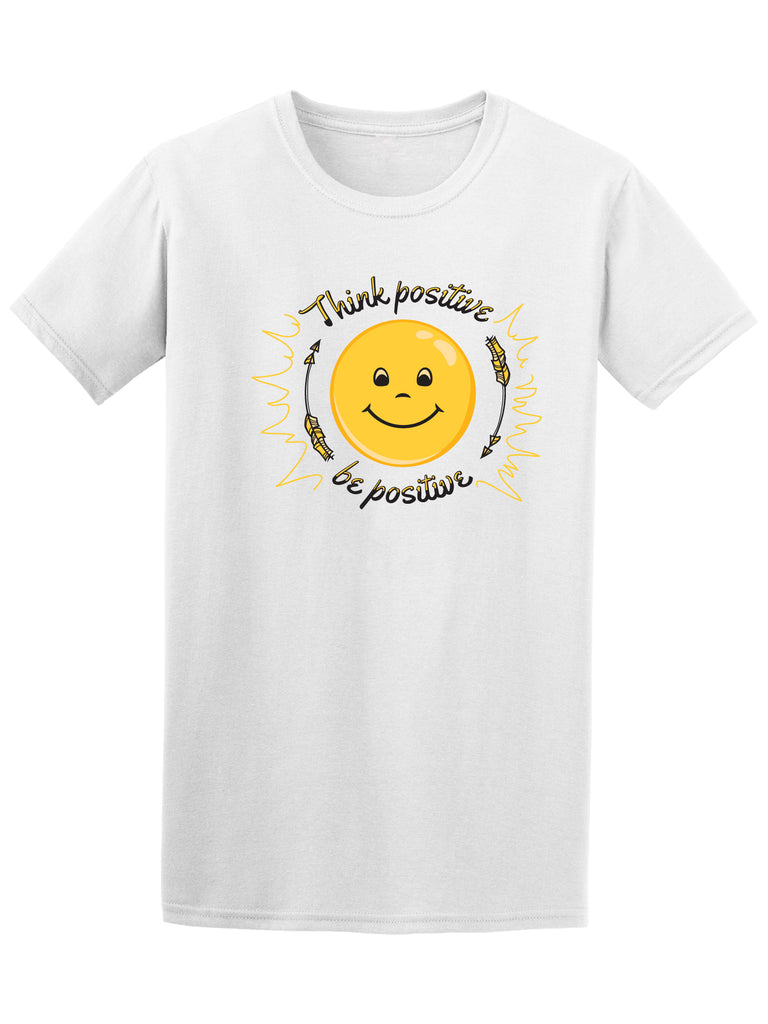 Be Positive Smiley Emoticon Men's Tee - Image by Shutterstock