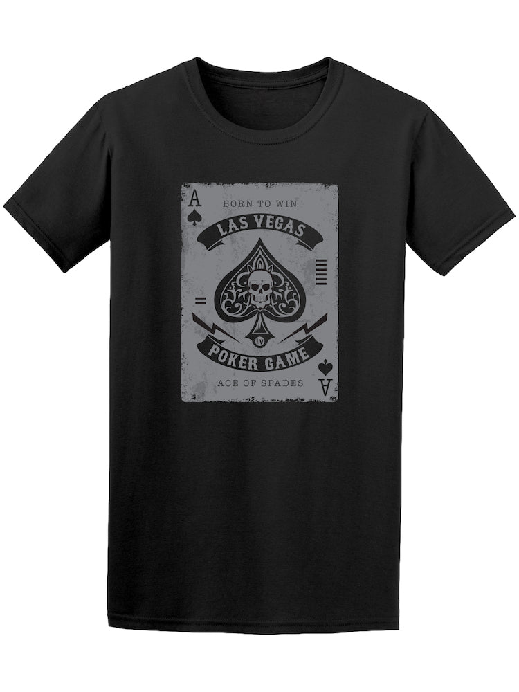 Ace Of Spades Gothic Skull Graphic Tee - Image by Shutterstock