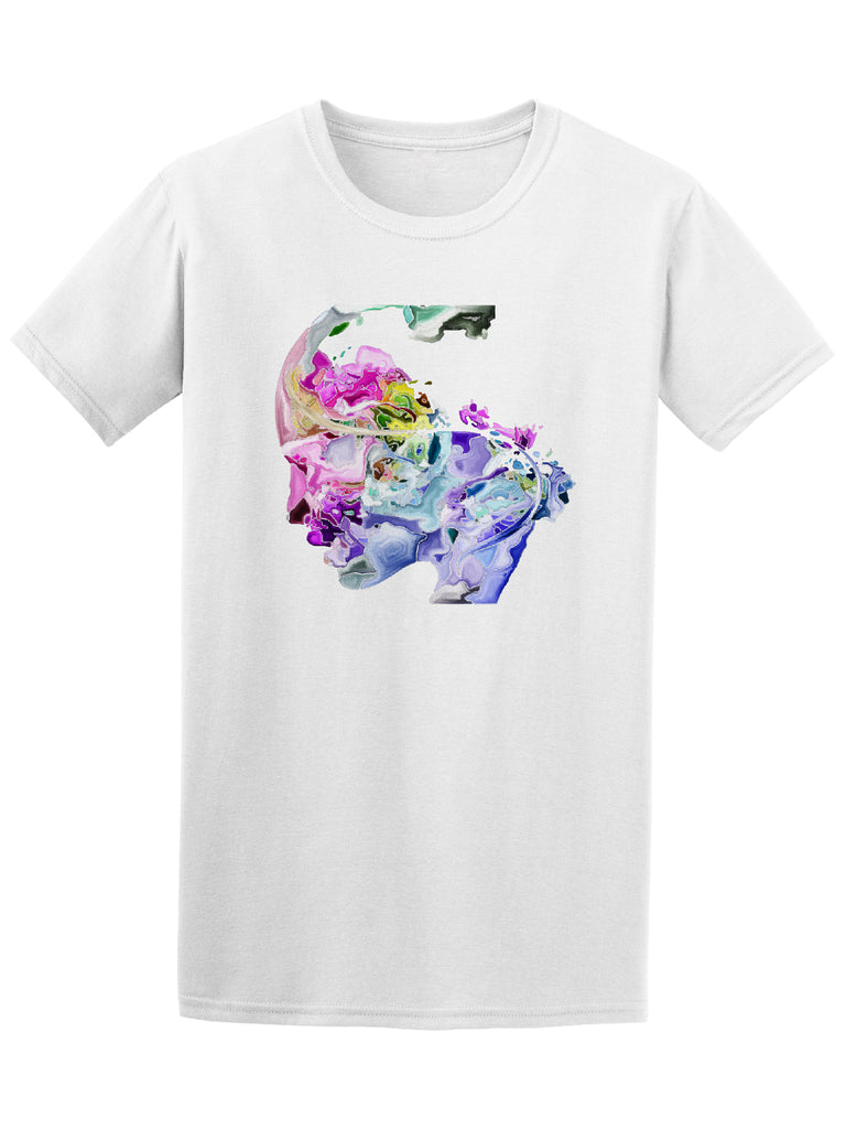 Artistic Watercolor Human Face Graphic Tee - Image by Shutterstock
