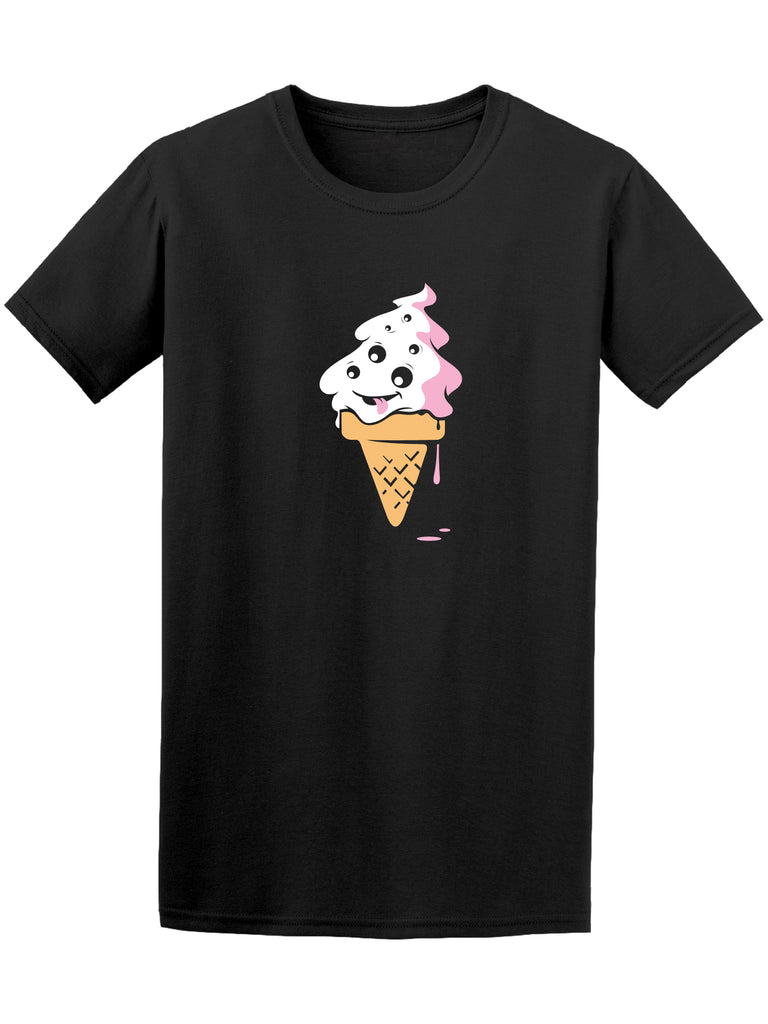 Alien Cartoon Ice Cream Graphic Men's Tee - Image by Shutterstock