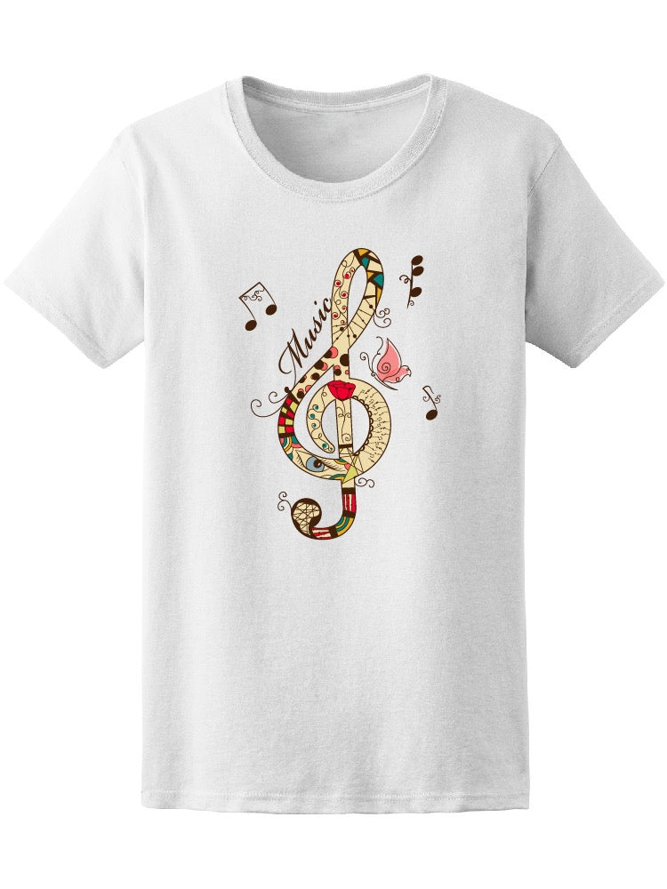 Beautiful Musical Treble Clef Tee Women's -Image by Shutterstock