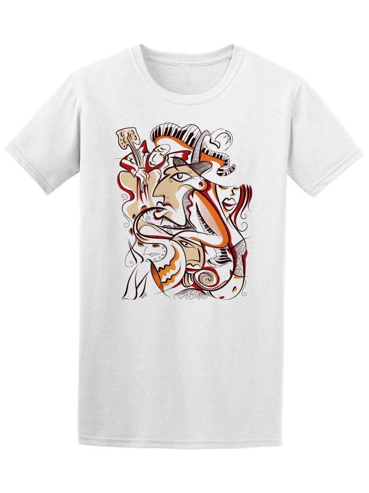 Abstract Cubist Art Jazz Players Tee Men's -Image by Shutterstock