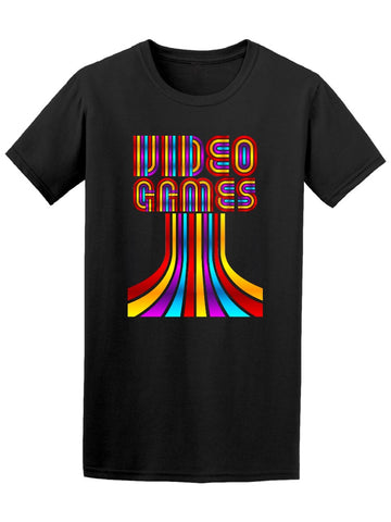 80'S Video Games Cool Rainbow Tee Men's -Image by Shutterstock