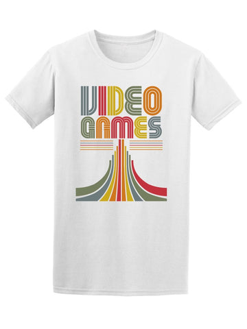 80'S Video Games Colored Graphic Tee Men's -Image by Shutterstock