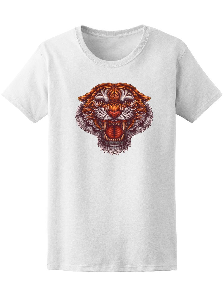 Angry Tiger Roaring Tee Men's -Image by Shutterstock