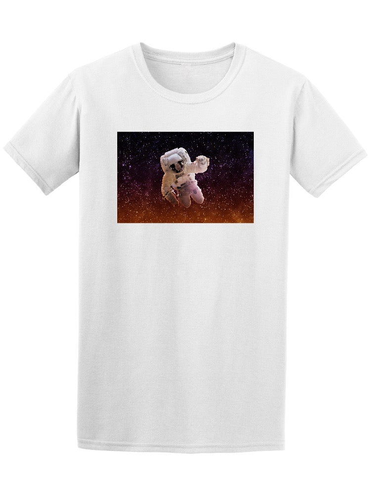 Astronaut In Space Galaxy Stars Tee Men's -Image by Shutterstock