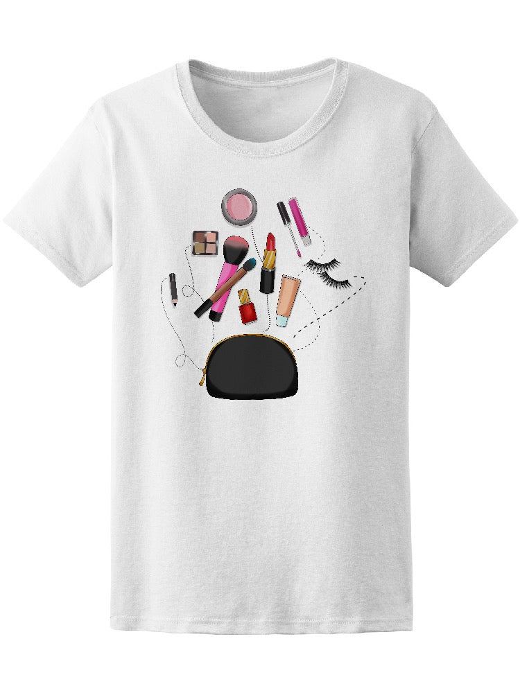 Beauty Bag Cosmetics Makeup Women's Tee - Image by Shutterstock