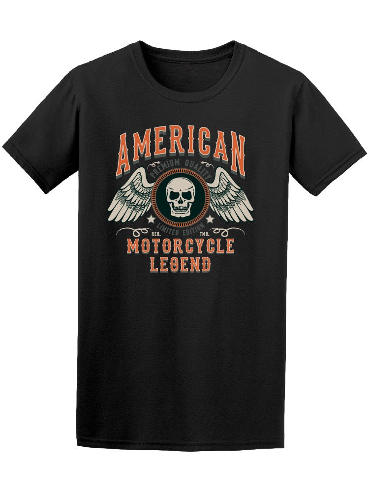 American Motorcycle Legend Skull Tee Men's -Image by Shutterstock
