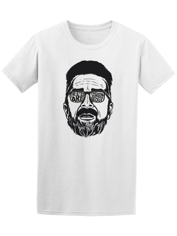 Bearded Hipster Face Tee Men's -Image by Shutterstock
