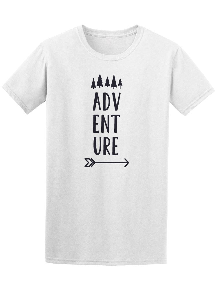 Adventure Lettering Forest Trees Tee Men's -Image by Shutterstock
