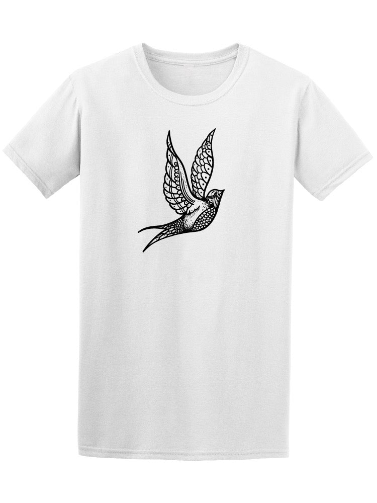 Bird Tattoo Style Men's Tee - Image by Shutterstock