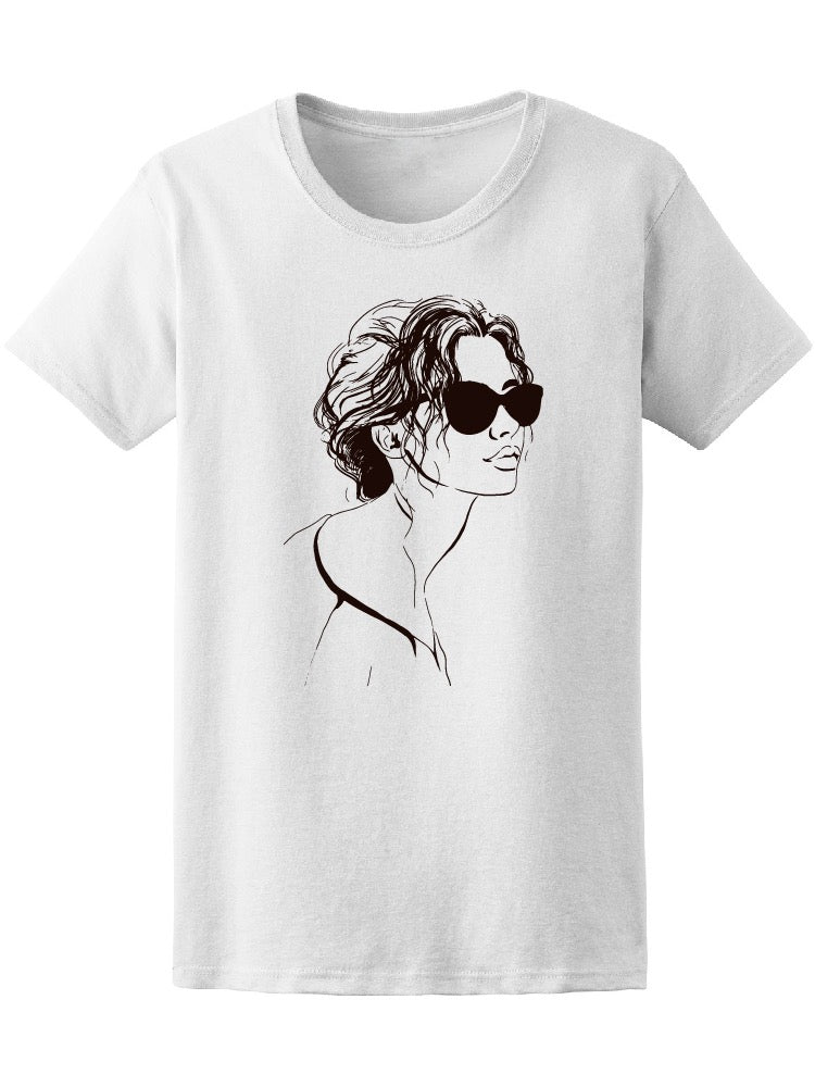 Attractive Model Face Glasses Women's Tee - Image by Shutterstock