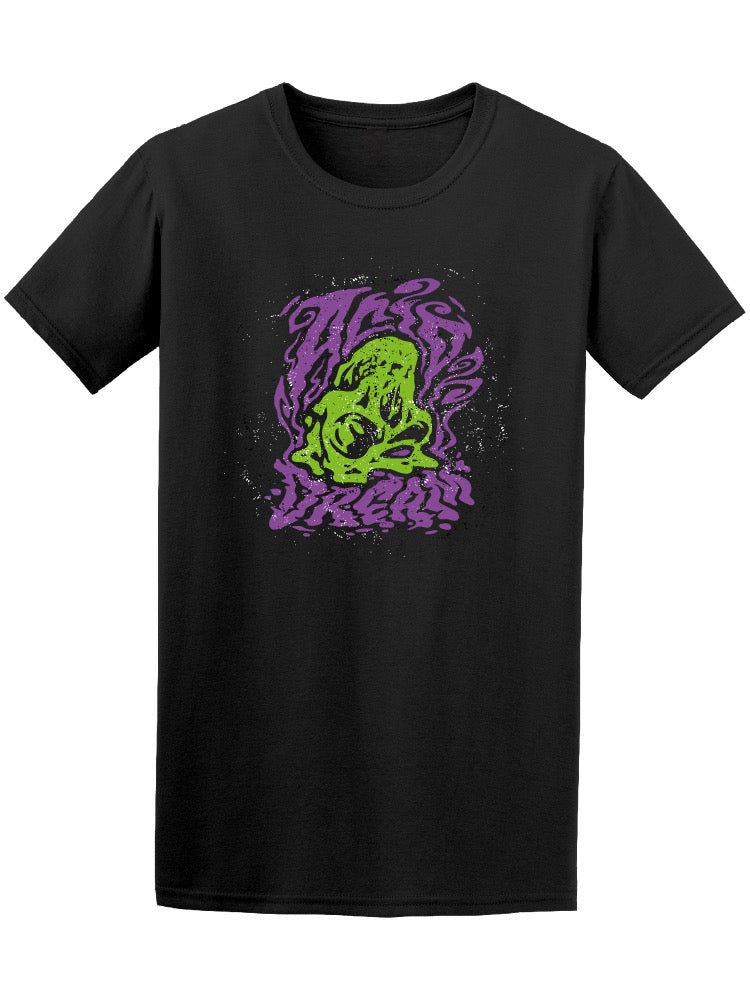 Acid Dream Skull Graphic Tee Men's -Image by Shutterstock