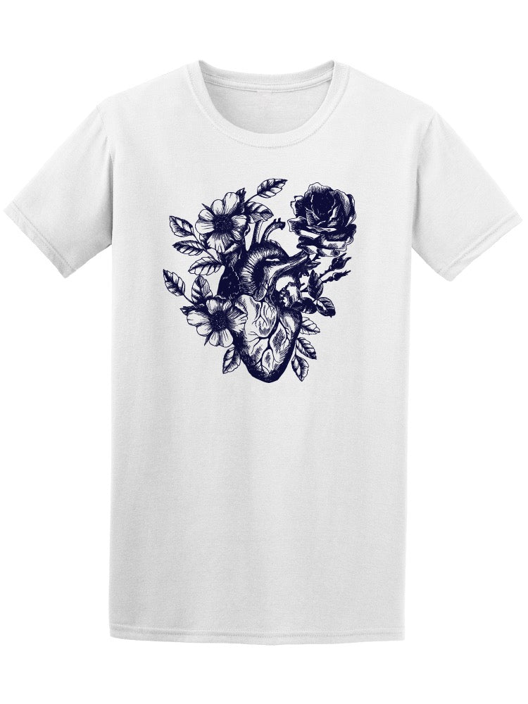 Anatomical Flower Human Heart Men's Tee - Image by Shutterstock