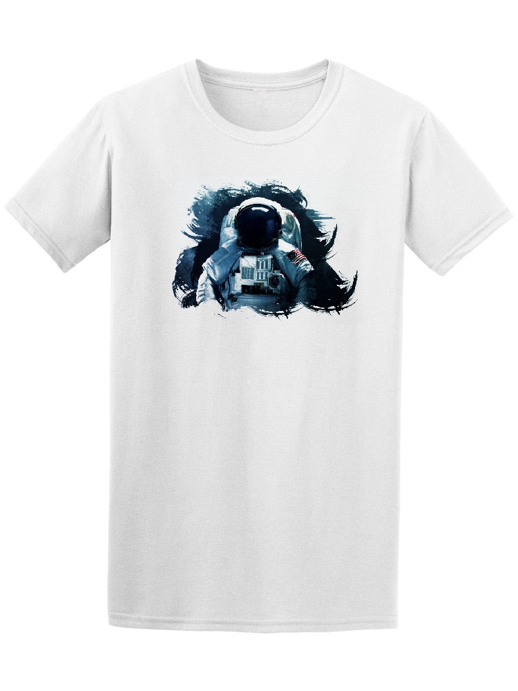 Astronaut In Outer Space Brush Tee Men's -Image by Shutterstock