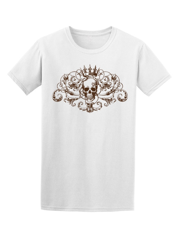 Baroque Vintage Decorative Skull Tee Men's -Image by Shutterstock