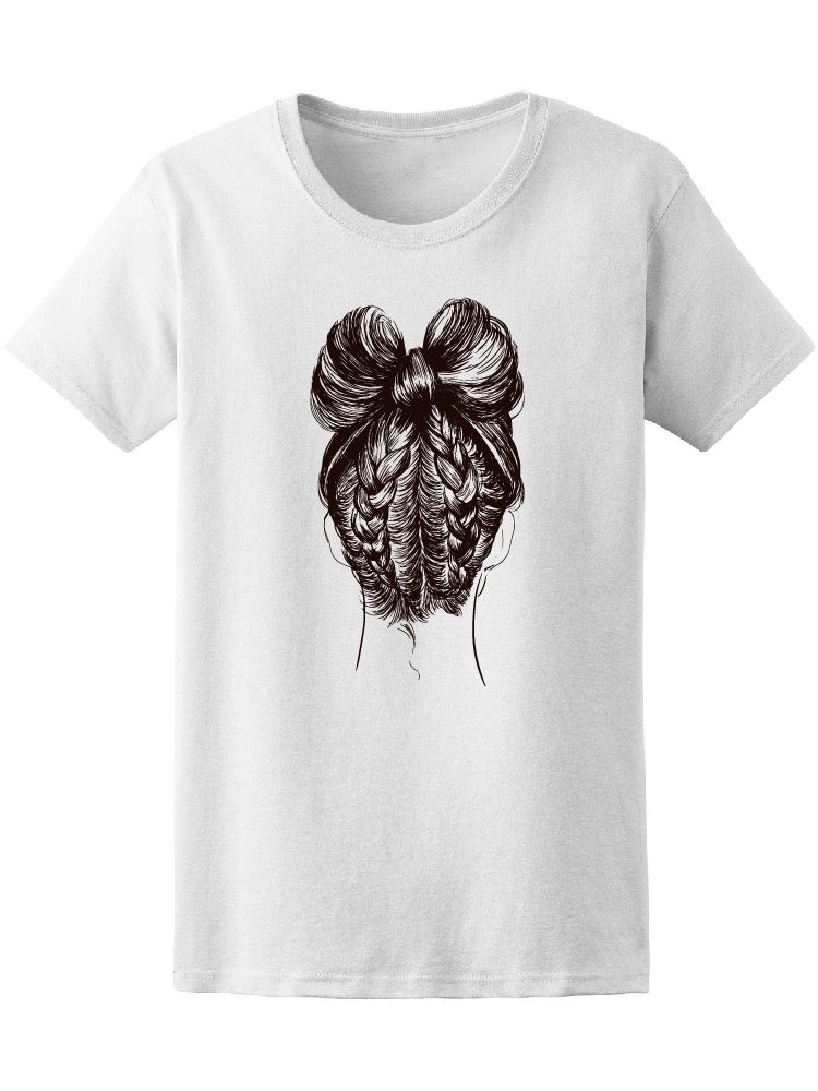 Beautiful Hairstyle Braids Bow Women's Tee - Image by Shutterstock