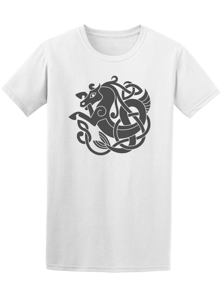 Ancient Celtic Sea Horse Tee Men's -Image by Shutterstock