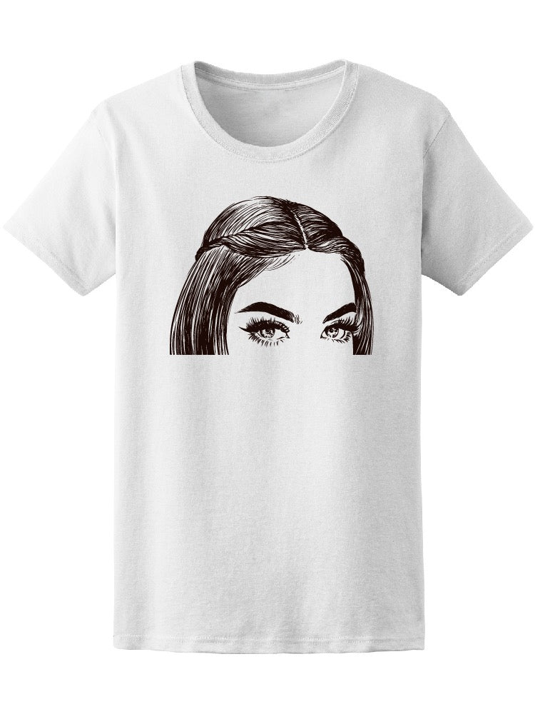 Beautiful Eyes Pencil Drawing Women's Tee - Image by Shutterstock