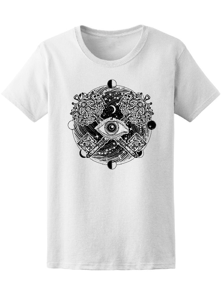 All Seeing Eye Occult Doodle Tee Women's -Image by Shutterstock