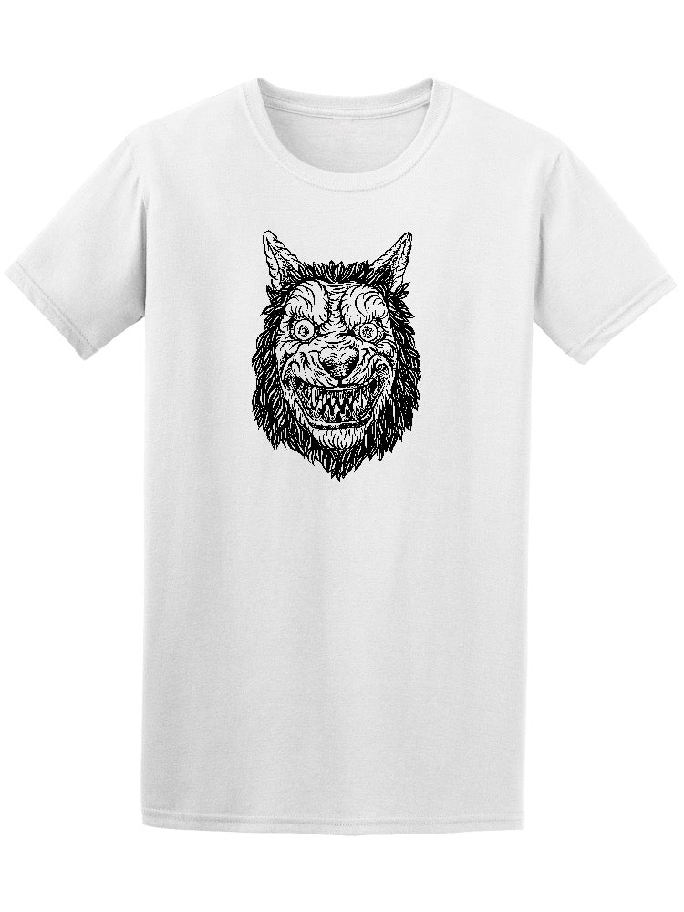 Angry Smiling Wolf Dog Men's Tee - Image by Shutterstock
