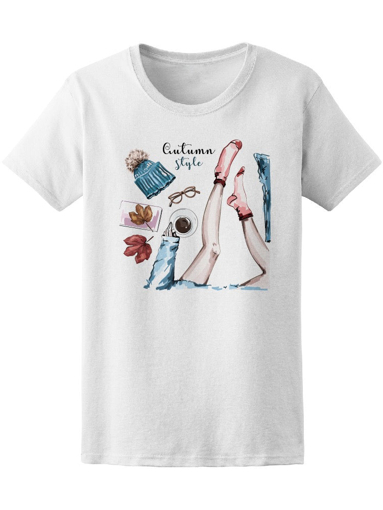 Autumn Style Coffee Girl Tee Women's -Image by Shutterstock