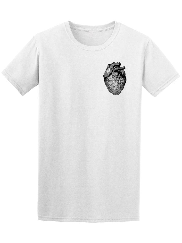Anatomical Human Heart Sketch Men's Tee - Image by Shutterstock