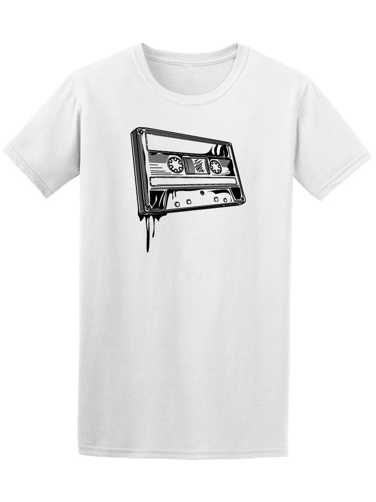 Audio Cassette Graffiti Style Men's Tee - Image by Shutterstock
