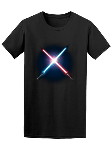Crossed Blue & Red Lightsabers Tee Men's -Image by Shutterstock