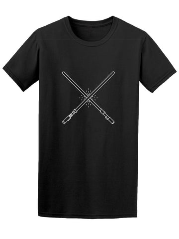 Cool Lightsabers Fight Graphic Tee Men's -Image by Shutterstock