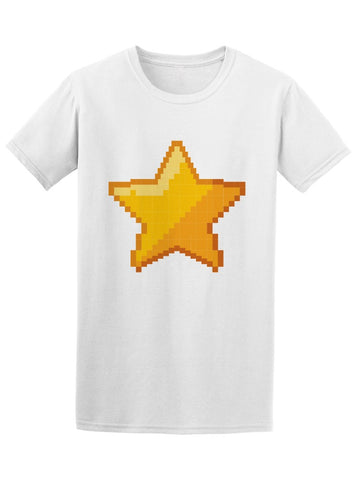 Cool Pixel Star Gamer Graphic Tee Men's -Image by Shutterstock