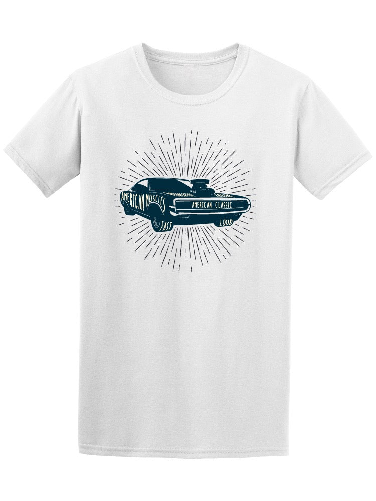 70'S Vintage American Muscle Car Tee Men's -Image by Shutterstock
