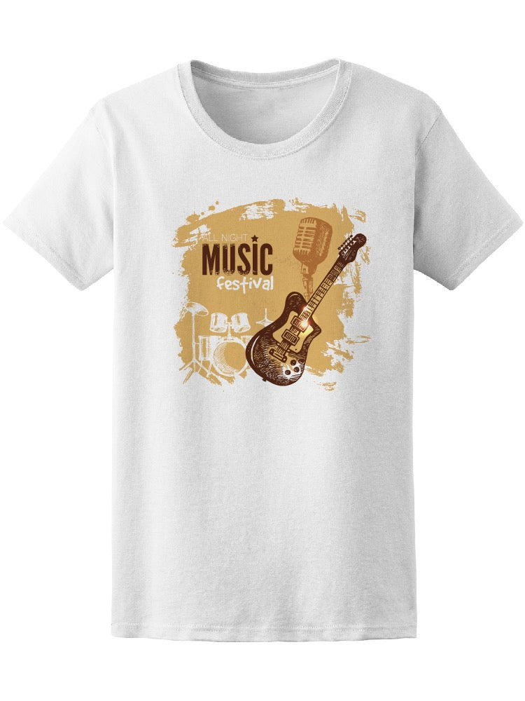 Awesome Retro Music Festival  Tee Women's -Image by Shutterstock