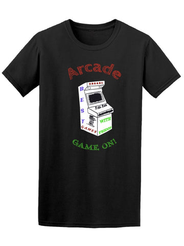 Arcade Game On! Retro Gaming Box Tee Men's -Image by Shutterstock