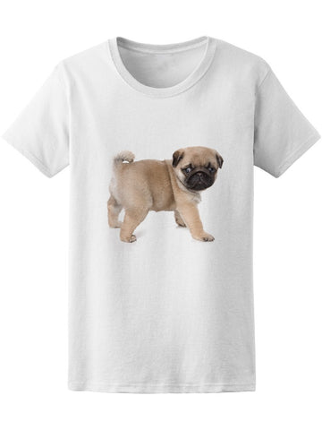 Cute Puppy Pug Graphic Tee Women's -Image by Shutterstock