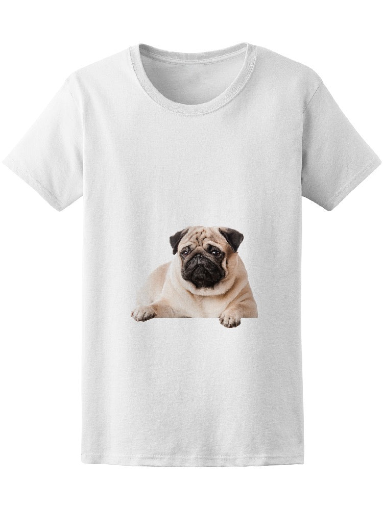 Beautiful Pug Lying On Sofa Tee Women's -Image by Shutterstock