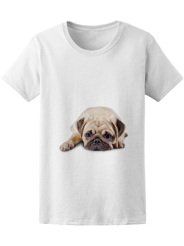 Adorable And Cute Puppy Pug Tee Women's -Image by Shutterstock