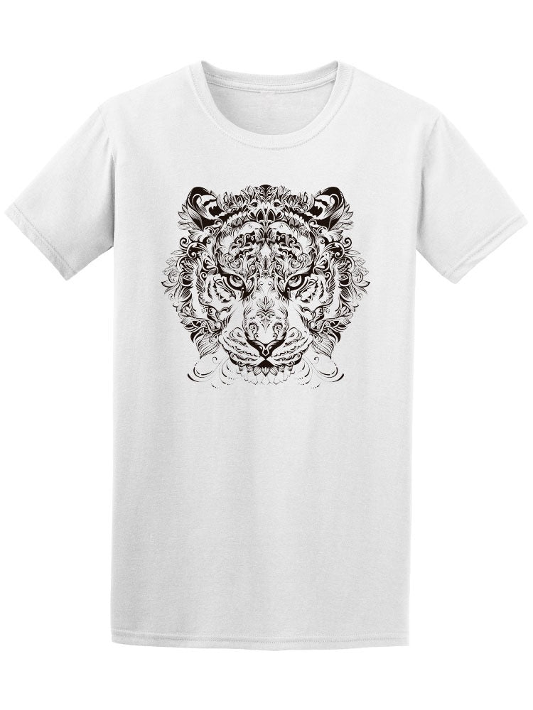 Beautiful Floral Tiger's Head Tee Men's -Image by Shutterstock