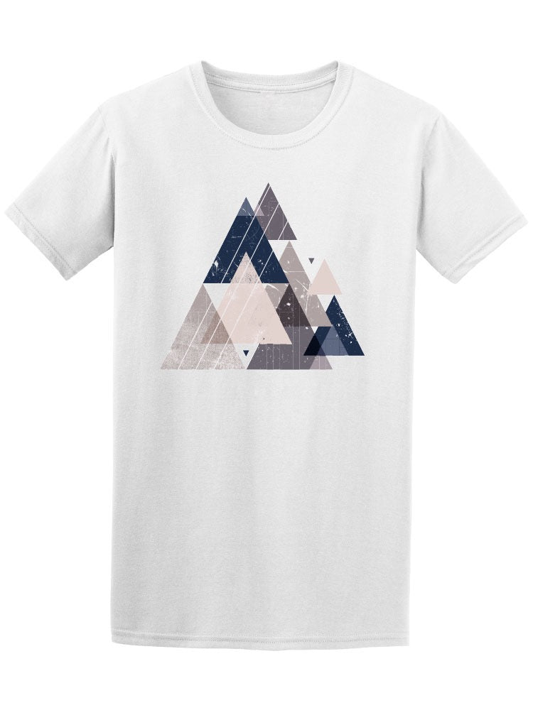 Abstract Trendy Triangles Tee Men's -Image by Shutterstock