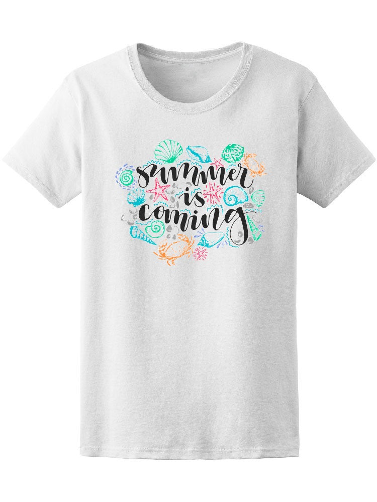 Beach Summer Is Coming Tee Women's -Image by Shutterstock
