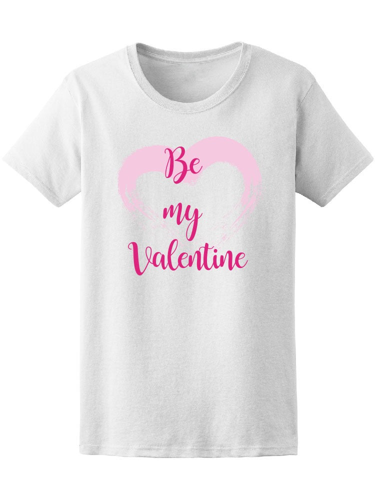 Be My Valentine Cute Pink Heart Tee Women's -Image by Shutterstock
